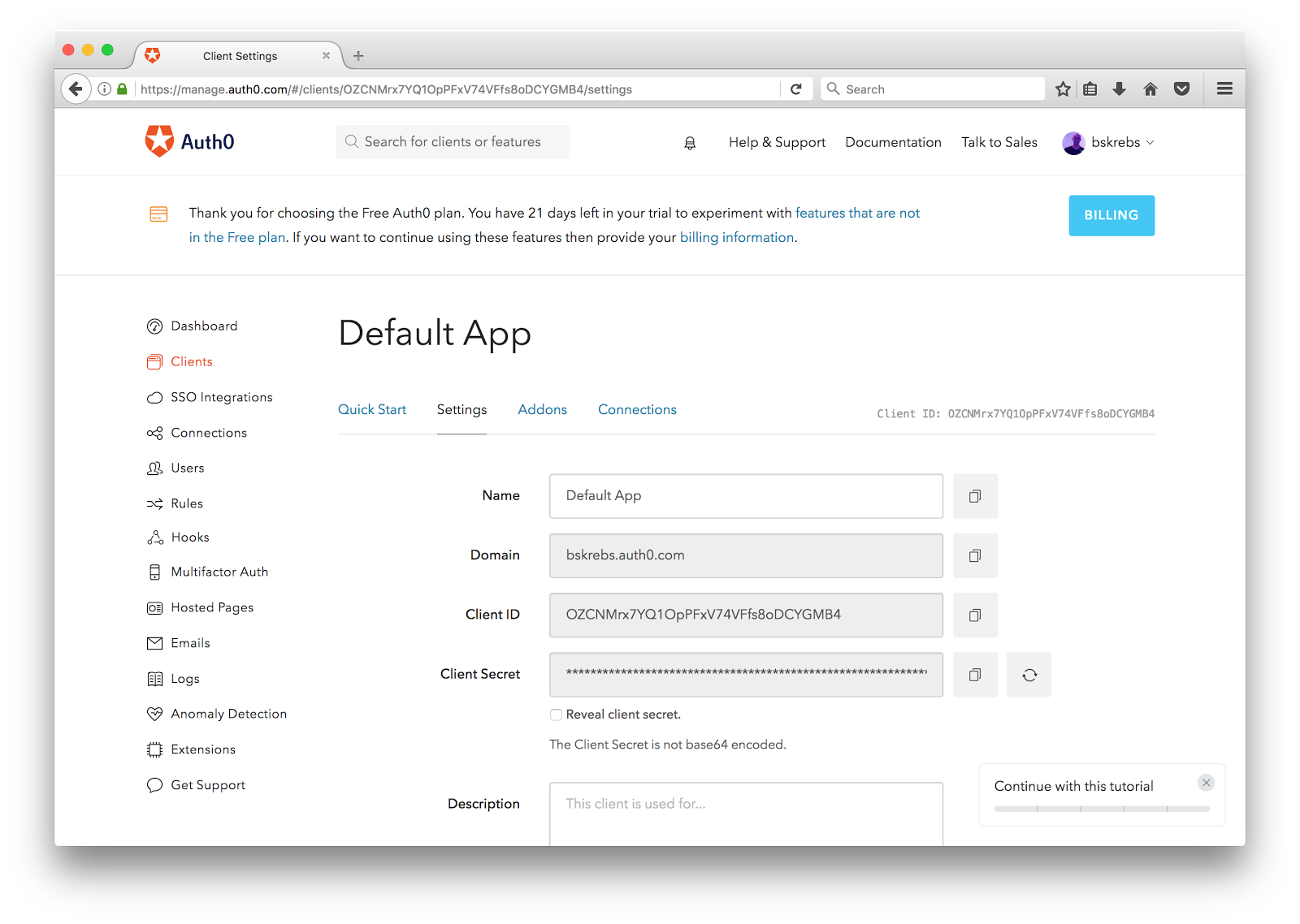 setting up auth0 rules for your Clearbit integration