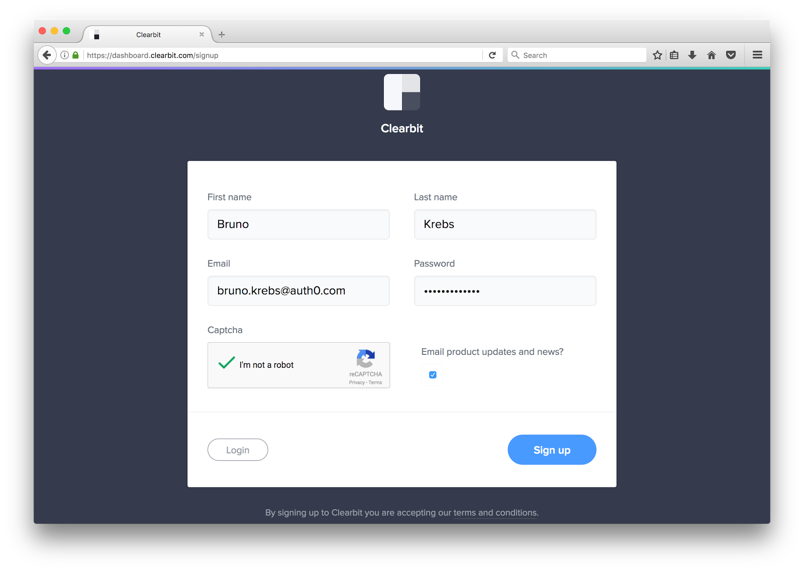 Clearbit and Auth0 Integration