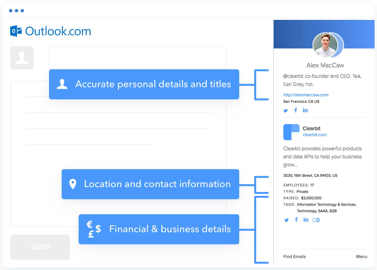 Clearbit Connect for Microsoft Outlook